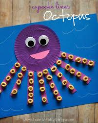 cupcake liner octopus craft cupcake liners motor skills