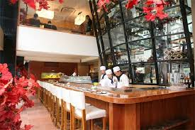 japanese cuisine bar beautiful sushi bar with a liquor tower picture of