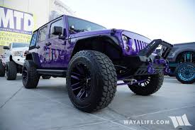 purple jeep 2017 sema meyer snyper purple jeep jk wrangler unlimited