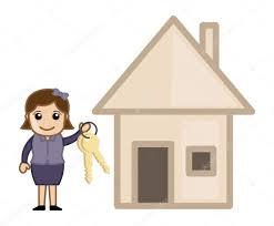 buy a house real estate concept vector character cartoon