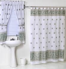 Bathroom Window Curtains Matching Bathroom Window And Shower Curtains Window Curtains