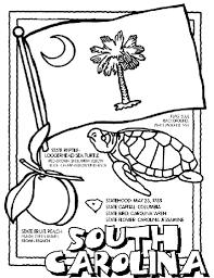 south carolina symbol coloring crayola print