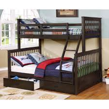 Bunk Beds  Twin Over Full Bunk Bed With Trundle Twin Over Full - Full size bunk bed with futon on bottom