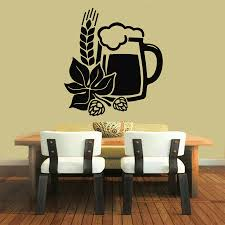 compare prices on beer wall decals online shopping buy low price order 1 piece wall decals vinyl decal sticker art mural kitchen decor beer floral design china