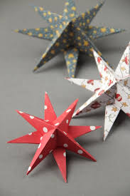 diy 3d paper star christmas decorations paper stars 3d paper