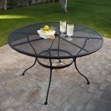 Black Patio Dining Set - belham living stanton 48 in round wrought iron patio dining table