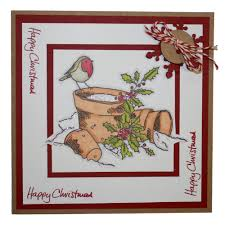 winter robin christmas rubber stamps products hobby