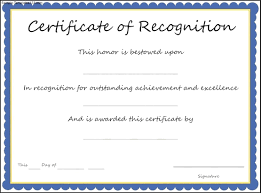 sample of certificate of recognition simple loan document