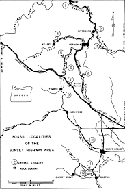 map of hwy 58 oregon fossil along the sunset highway forest hiker