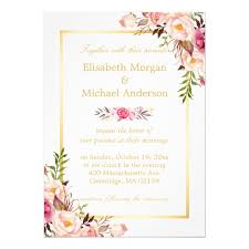 Marriage Card Elegant Floral Chic Gold White Formal Wedding Card Zazzle Com
