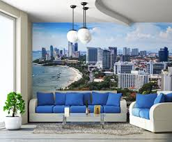 wall mural graphink design print promote miami florida beach condo custom printed wall mural
