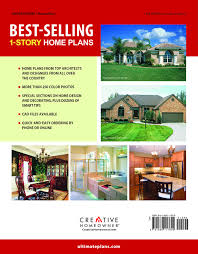 best selling 1 story home plans editors of creative homeowner