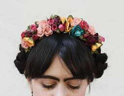 day of the dead headband frida flower crown colorful flower headpiece flower headband
