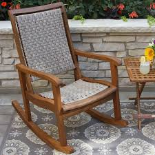Recycled Plastic Rocking Chairs Polywood Jefferson Recycled Plastic Rocking Chair With Woven Seat