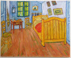 analyse du tableau la chambre de gogh gallery of tableau contemporain int rieur sur toile la