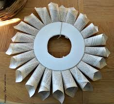 Christmas Decorating Wreath Old Book Pages by Book Page Wreath Tutorial Vintage Paint And More