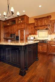 walnut floors with knotty alder cabinets kitchen