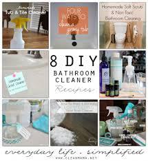 homemade bathroom cleaner 8 diy bathroom cleaner recipes clean