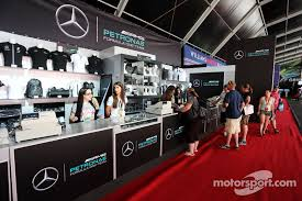amg stand for mercedes mercedes amg f1 merchandise stand at gp