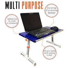 Blue Computer Desk Traveler Folding Stand Up Desk Adjustable Smalltravel Size Standing Converter Blue Steady Sstrncbu 539 Jpg V 1520438157