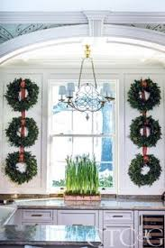 Kitchen Window Christmas Decorations by 30 Stunning Christmas Kitchen Decorating Ideas U2013 All About