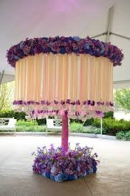 blue and purple wedding whimsical garden themed wedding concept in shades of purple