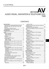 2003 nissan 350z audio visual system section av pdf manual