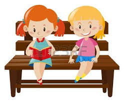 child sitting clipart four kids sitting on wooden bench illustration royalty free