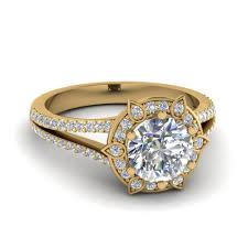 gold halo engagement rings cut lotus radiance halo engagement ring in 14k