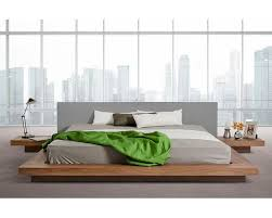 Low Height Bed Frame Low Profile Grey White Leatherette Platform Bed 44b105bd