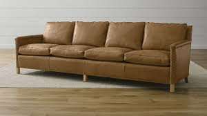 Soft Leather Sofa Trevor 106 Camel Leather Sofa In Sofas Reviews Crate And Barrel