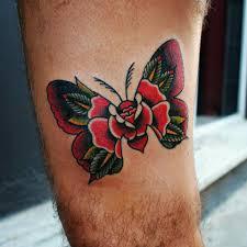 rose butterfly tattoo by greek artist chris various tattoos