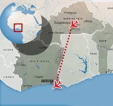 Ivory Coast Map Ivory Coast Plane Crash Leaves Four Dead Daily Mail Online