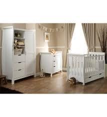 Nursery Furniture Set White Obaby Lincoln Mini Sleigh 3 Nursery Furniture Set White