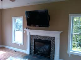 fireplace pretty tv mounted over fireplace for living room tv