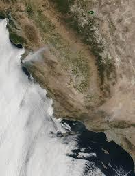 California Wildfire Satellite View by Soberanes Fire California Natural Hazards