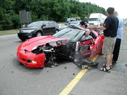 corvette car crash c5 corvette crash with semi don t drink or text drive