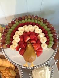 thanksgiving fruit platter turkey food