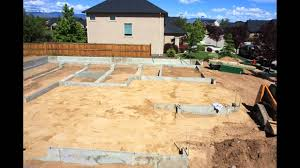 filling in foundation compacting leveling youtube