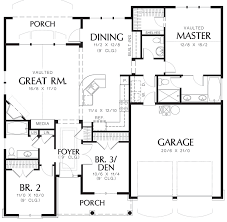100 craftsman style house plan 3 beds 2 00 baths 1450 sq ft