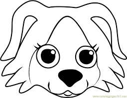 puppy face coloring coloring