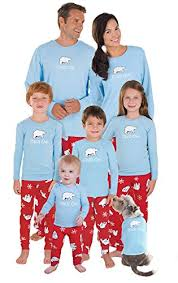 pajamagram cotton chill out matching family pajamas and blue