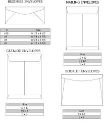 Envelopes Size Envelopes Printing Envelope Sizes