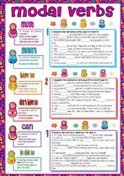 modal verbs must mustn t have to don t have to can be able to