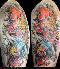 elegan tatto design of koi tattoos for man tattoomagz