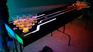 Custom Beer Pong Tables by Led Lighted Beer Pong Table Youtube