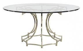 round glass top table with metal base round dining table glass top with metal base bernhardt round glass