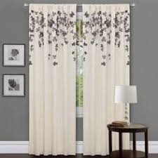 Overstock Kitchen Curtains by Emerald Green Faux Silk Taffeta Curtain Panel Overstock Com