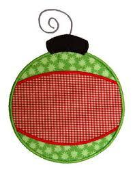 banded ornament applique design
