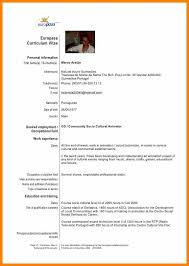 German Resume Template Europass Template Eliolera Com